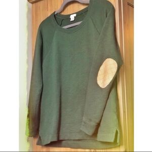 Adorable : LIKE NEW J. Crew elbow patch sweatshirt